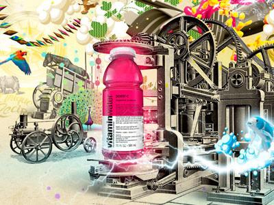 Vitaminwater illustration